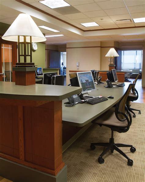 office cabinets custom reception counter heartland