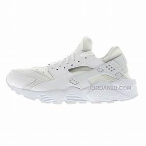 Nike Air Huarache Mens Running Shoes All White Sneakers ...