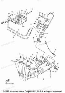 Yamaha Motorcycle 2010 Oem Parts Diagram For Exhaust