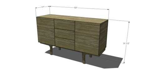 Standard Sideboard Height by Free Diy Furniture Plans To Build A West Elm Inspired