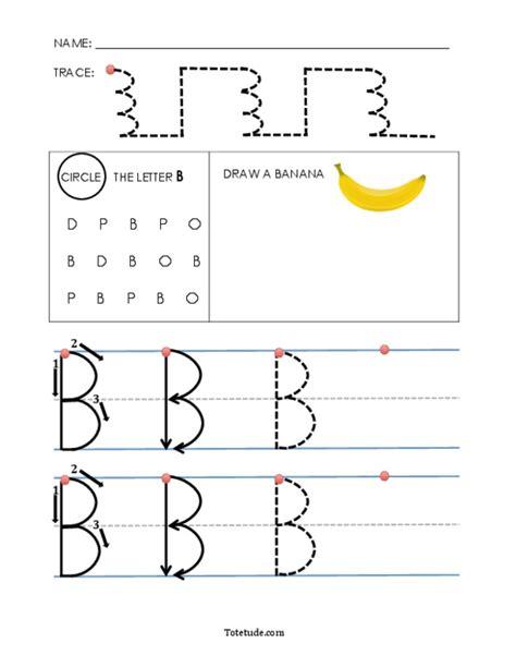 uppercase letter b worksheet preschool printable