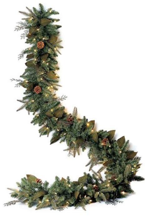 gki bethlehem lighting pre lit 6 foot pe pvc christmas garland with 100 clear mini green river