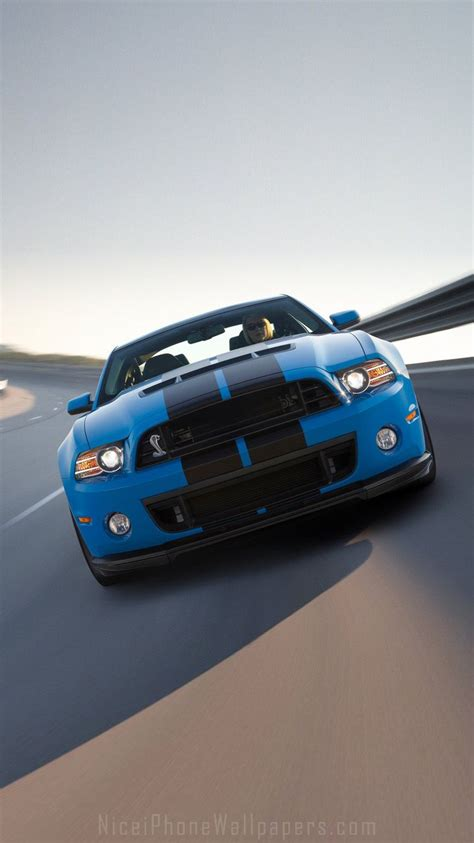 Blue Mustang Wallpaper Iphone by Ford Mustang Shelby Gt500 2014 Iphone 6 6 Plus Wallpaper