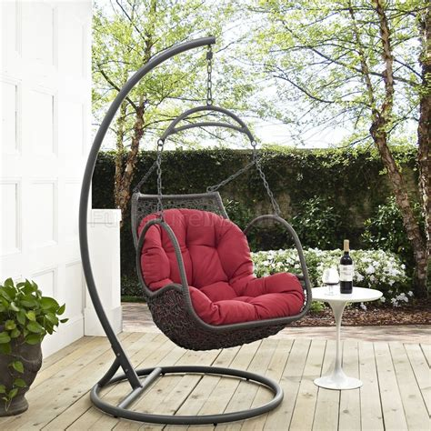 arbor outdoor patio wood swing chair by modway choice of color