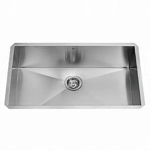 vigo 30quot x 19quot undermount single bowl 16 gauge stainless With stainless steel kitchen sink gauge