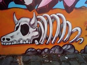Graffiti Of Cow Bones In St Kilda