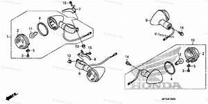 Honda Motorcycle 2010 Oem Parts Diagram For Turn Signal