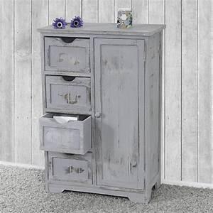 Schrank Vintage Look : kommode schrank 82x55x30cm shabby look vintage grau ~ Bigdaddyawards.com Haus und Dekorationen