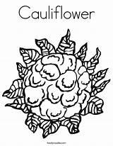 Cauliflower Coloring Pages Bunga Kobis Vegetable Vegetables Twistynoodle Outline Fruit Noodle Twisty Built California Usa Ll sketch template