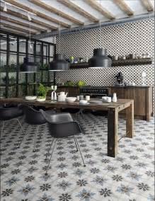 küche vintage küche bodenfliesen mit marokkanische enkaustik zement stil für vintage küche dekor