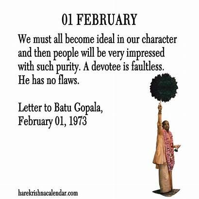 February Quotes Month Funny Sayings Prabhupada Calendars