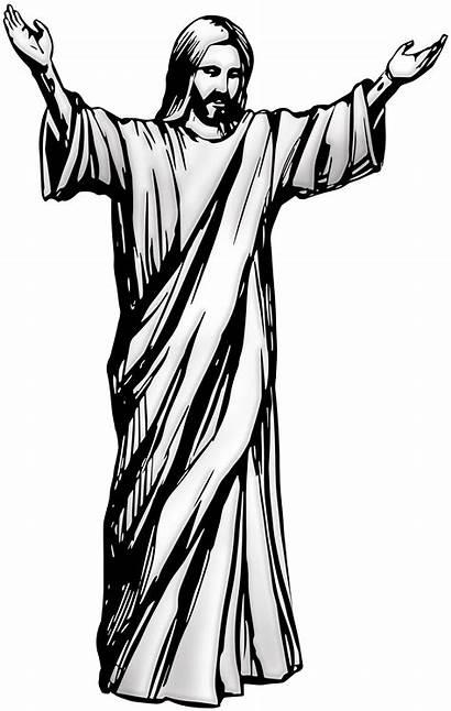 Jesus Christ Clip Clipart Drawing Cross Svg