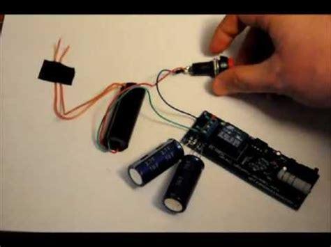 the capacitor based 30kv taser stun gun prototype fast rechargeable 5 3v to 30kv wmv