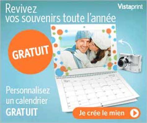 vistaprint calendrier mural gratuit vistaprint calendrier photo mural 224 personnaliser gratuit offre expir 233 e maxibonsplans 174