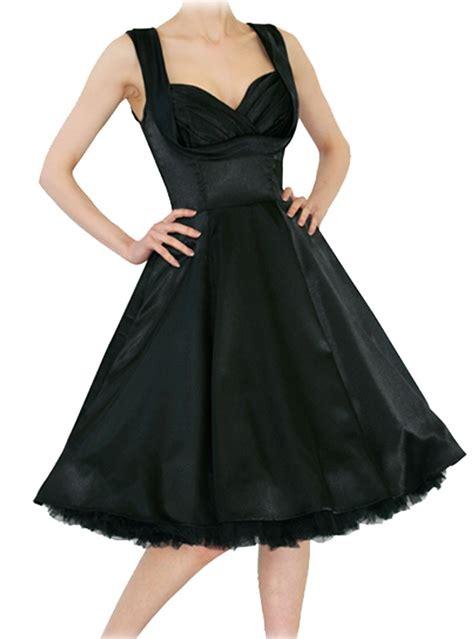 robe pin up rockabilly vintage satin noir hr quot black satin quot rockangehell
