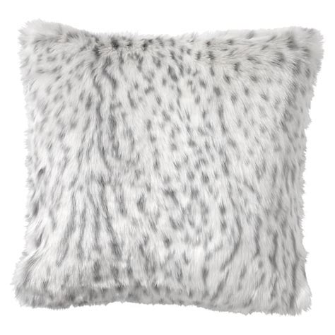gray fur pillow faux fur pillow cover gray leopard pbteen