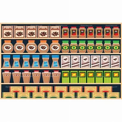Supermarket Shelves Clipart Clipground