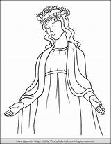 Mary Crowning Coloring Catholic Pages Queen Mother Clipart Virgin Jesus Holy Children Religion Kid Colouring Printable Heaven Teaching Thecatholickid Sheets sketch template