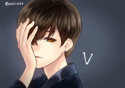 Anime Wallpaper Bts V by V Bts Bangtan Boys Zerochan Anime Image Board