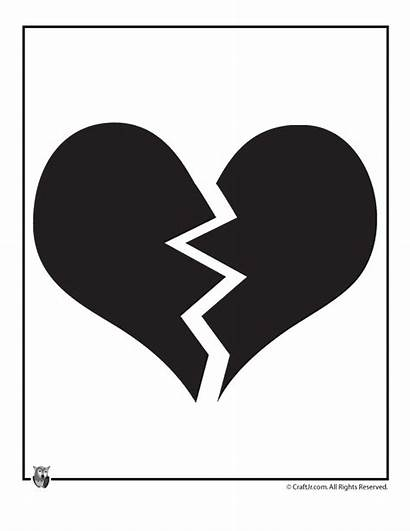 Broken Heart Clipart Template Clip Cliparts Quotes