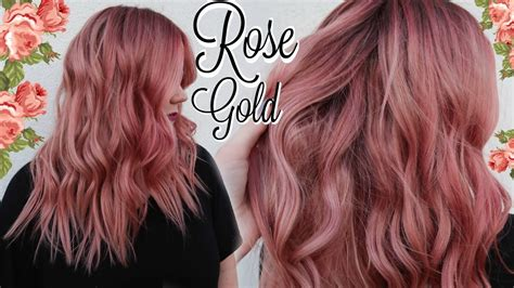 rose gold hair color tutorial  formula