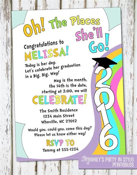 places youll  graduation invitation places