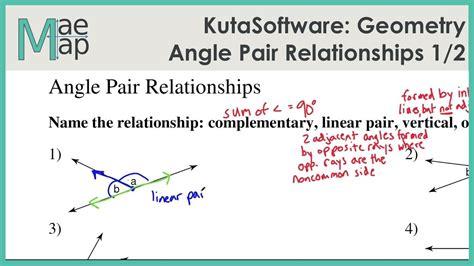 Kutasoftware Geometry Angle Pair Relationships Part 1 Youtube