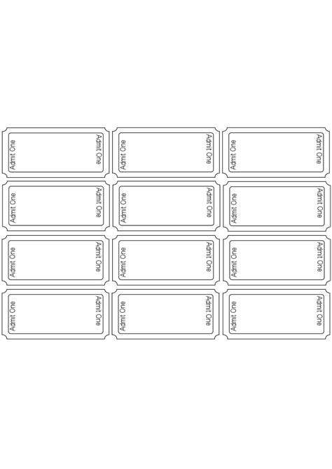 blank ticket template microsoft clip ticket cliparts