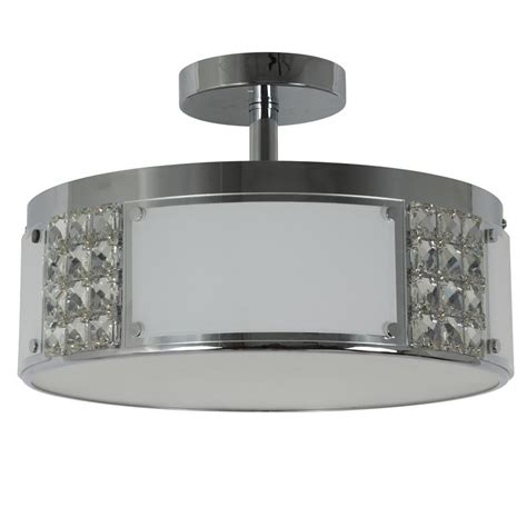 decor therapy iris in 2 light chrome metal and glass flush mount ceiling light ch1956 the