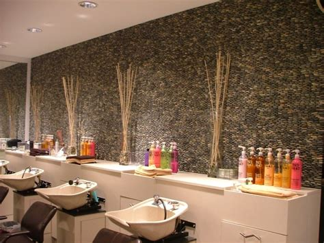 Mixed Gray Standing Pebble Tile  Teddie Kossof Salon