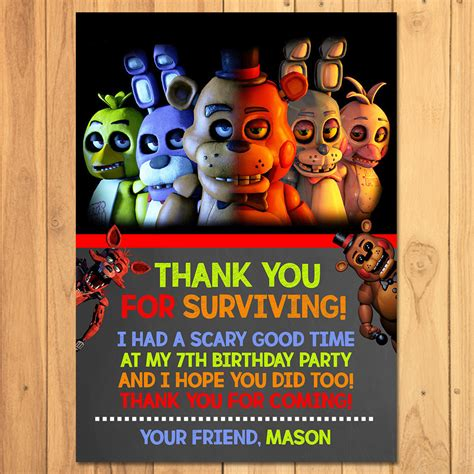 Header image with netflix titles. Five Nights at Freddy's Thank You Card FNAF Birthday   Etsy