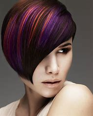 Purple Highlight Hair Color