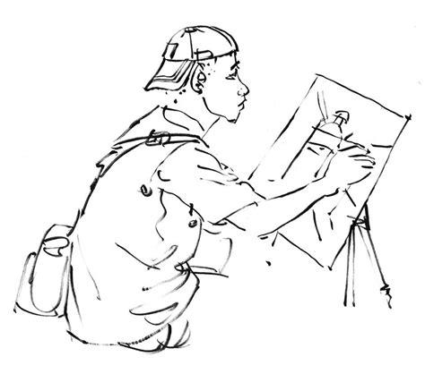 Cara seru lainnya untuk mewarnai gambar adalah menebak dan mewarnai. +144 Gambar Sketsa Orang Beraktivitas   Gudangsket