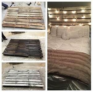 Wandlampe Selber Bauen : rustikales diy bett kopfteil selbst bauen aus paletten in ~ Lizthompson.info Haus und Dekorationen