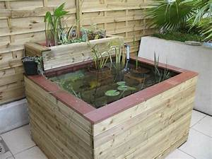 bassin de jardin en bois obasinccom With bassin de jardin bois