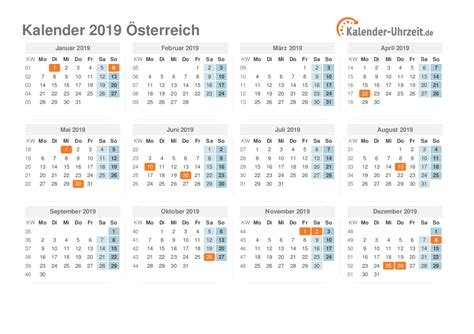 feiertage oesterreich kalender uebersicht