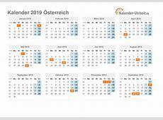Feiertage 2019 Österreich Kalender & Übersicht