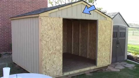 building pre cut wood shed expect home depots princeton youtube