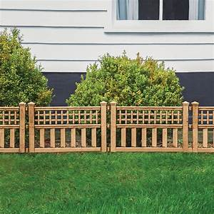 Bronze, Finish, Garden, Border, Fence, Pack, Of, 4