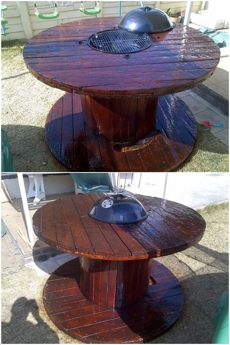 large wooden spools used for tables 10 cable spool tables that are simply awesome