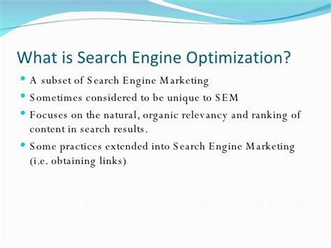 What Is Search Optimization by Search Engine Optimization Seo