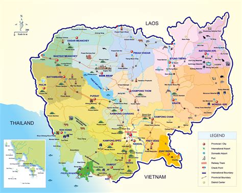 Maps Of Cambodia  Detailed Map Of Cambodia In English