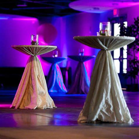 high top cocktail table cloths elegant high top tables with cinched linens