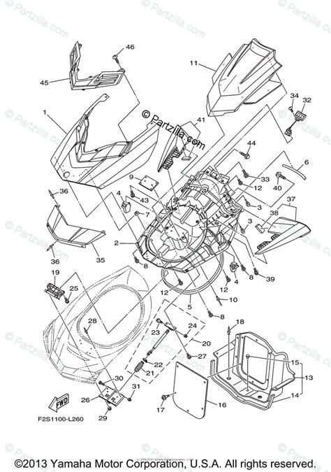 yamaha waverunner 2014 oem parts diagram for engine hatch