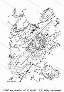 Yamaha Waverunner 2014 Oem Parts Diagram For Engine Hatch 2
