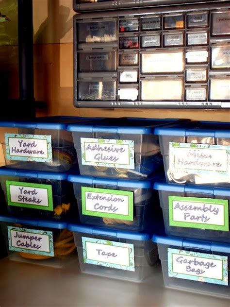 garage storage labels garage organization garage