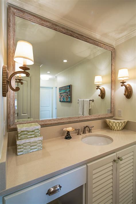 Framed Bathroom Mirror Ideas by Bathroom Framed Mirror Master Bathrooms With Framed