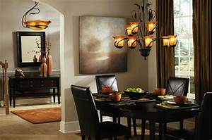 Dining, Room, Chandelier, Lighting, With, Downlight, 3340