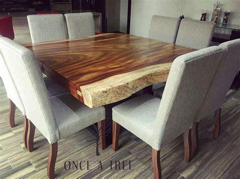 mesa comedor cuadrada parota madera   tree  personas
