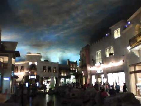 indoor rainstorm  las vegas miracle mile mall youtube